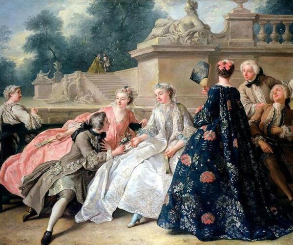 Ж. Ф. де Труа. Общество в парке. 1731.