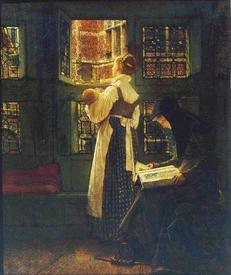 Альма-Тадема сэр Лоуренс, Воскресное утро няни, 40х33 см, галерея Тейт, Лондон, Англия