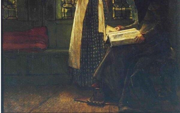 Альма-Тадема сэр Лоуренс, Воскресное утро няни, фрагмент «Подогреватель для ног»