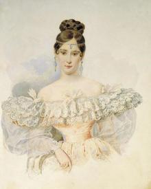Александр Брюллов. Портрет Н. Пушкиной-Ланской. 1831.