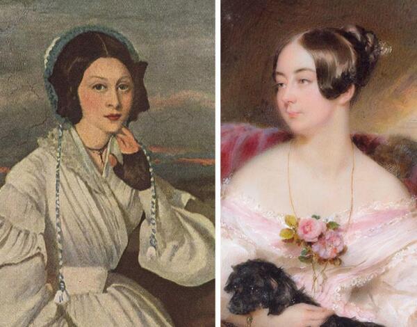 Дамы на портретах 1837 и 1840 гг.