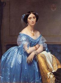 Жан Огюст Доминик Энгр. Портрет княгини Альбер де Бролье. 1853.