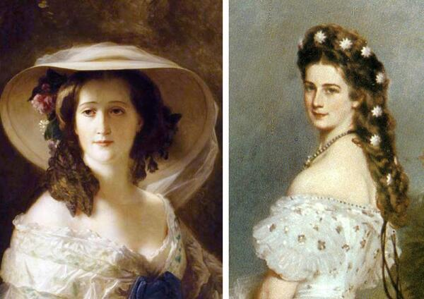 Две красавицы второй половины XIX века: императрица Франции - Евгения и императрица Австрии - Елизавета (по прозвищу
