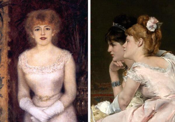Девушки с картин Огюста Ренуара и Альфреда Стевенса (1877-78 гг).