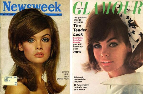 Актриса и модель 1960-х Джин Шримптон.