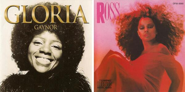 Афро-причёски от Глории Гейнор и Дайаны Росс.