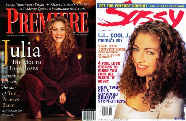 Кинозвёзды 1990-х: Джулия Робертс и Ребекка Гэйхарт.