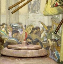 Альма-Тадема сэр Лоуренс, The vintage Festival, фрагмент «Толпа»
