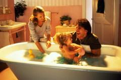 У них в ванне - точно не холодная вода...