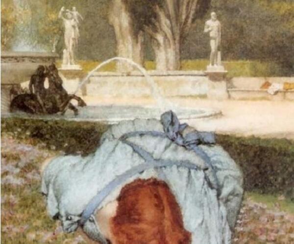 Христофор Унтербергер, фонтан «Морские лошади», фрагмент «Струя и бантик»
