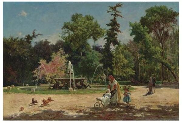 Аурелио Тирателли (1842-1890), Сад виллы Боргезе