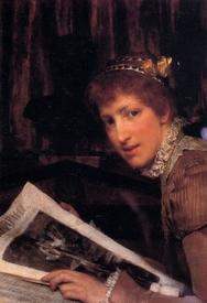 Альма-Тадема сэр Лоуренс, Помешали (Лаура, жена художника), 1880