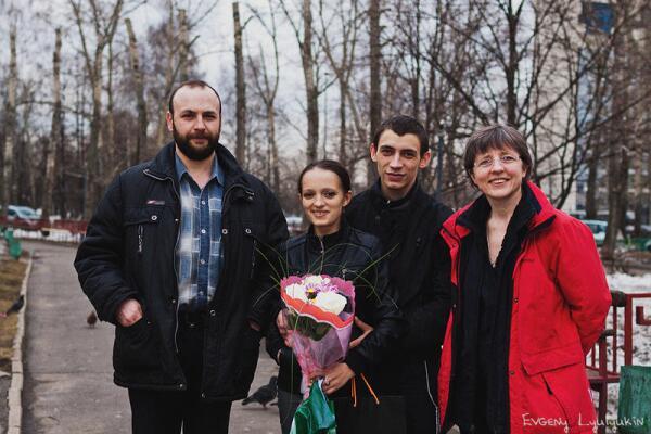 Молодожёны Алексей и Наталья и