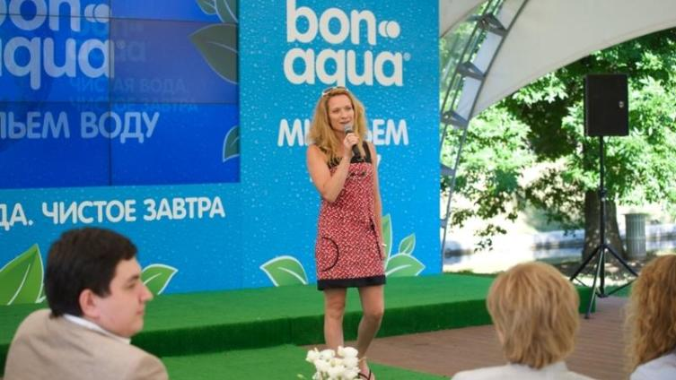 Мария Киселева, трехкратная олимпийская чемпионка по синхронному плаванию, заслуженный мастер спорта и лицо рекламной кампании BonAqua