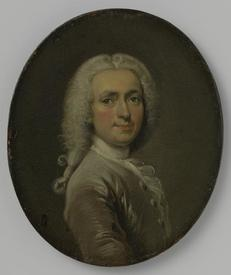 Корнелис Трост, Автопортрет, 1715, 12.5х10 см, Rijksmuseum, Амстердам,  Нидерланды