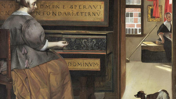 Женщина за клавесином (1660 г.)