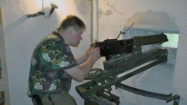 В роли стрелка станкового пулемета
