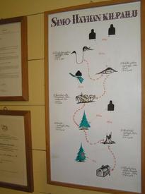 Карта прицельно стрельбы Симо Хяюхя, в оригинале нарисованная им самим