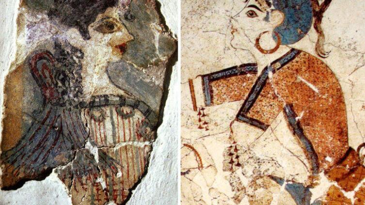Девушки на фресках Кносского дворца (о-в Крит) настолько напоминают наших современниц, что левую фреску окрестили «Парижанкой».