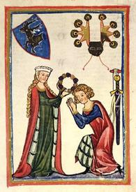 Дама на миниатюре 1305 г.