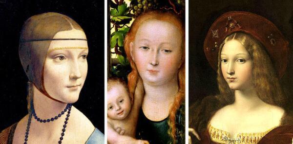 Портреты дам эпохи Реннесанса.