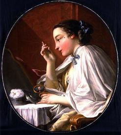 Франсуа Буше. Дама за туалетом. XVIII век.