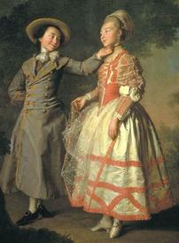 Дмитрий Левицкий. Е. Н. Хрущова и Е. Н. Хованская. 1773.