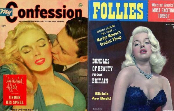 Кинодивы 50-х: Бетти Бросмер и Дайана Дорс.