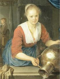 Герард Доу, Девушка у окна, фрагмент «Девушка с кувшином»