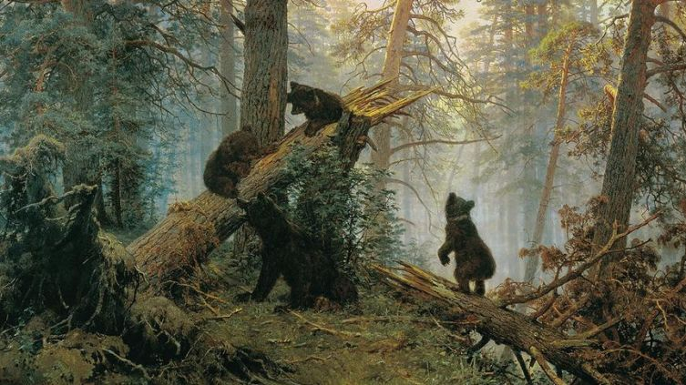 И. Шишкин «Утро в сосновом лесу».