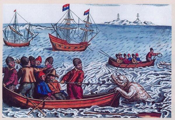 Охота на белого медведя (рисунок 1598 года)