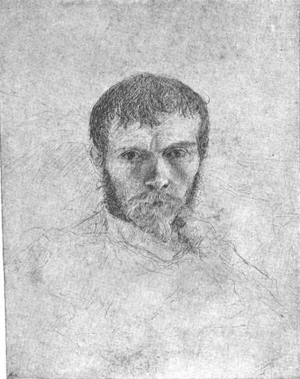 Жюль Бастьен-Лепаж, Предсмертный автопортрет, 1884,