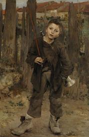 Жюль Бастьен-Лепаж, Бездельник, 1882, 132х90 см, Национальная галерея, Шотландия