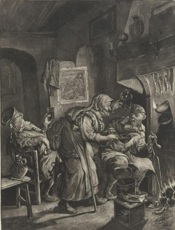 Корнелис Дюсарт, Старость, 1680, 25х18 см, Rijksmuseum, Амстердам, Нидерланды