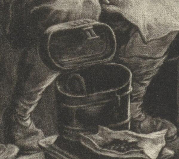 Корнелис Дюссарт, Старость, фрагмент «Котелок»