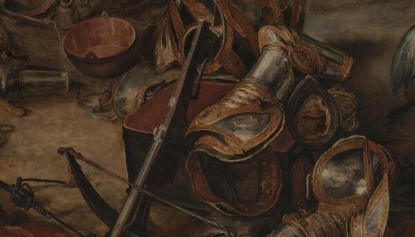 Питер Пауль Рубенс, Возвращение с войны, 1610, фрагмент «Прямоугольная кастрюля»