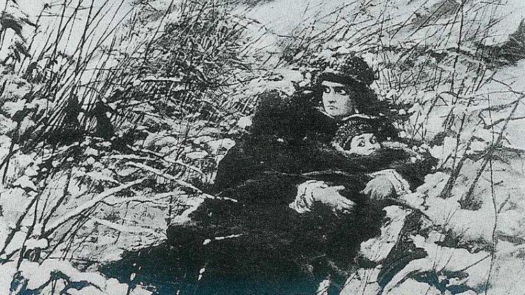 Бегство Марины Мнишек с сыном Иваном