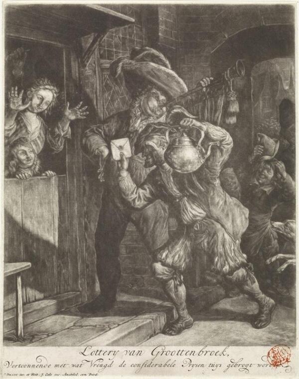 Корнелис Дюсарт, Крупный выигрыш в лотерею, 1694