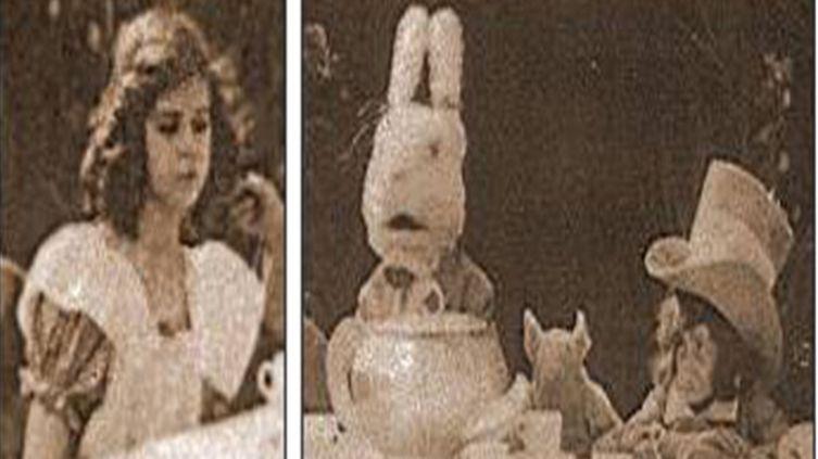 Кадр из фильма «Приключения Алисы в Стране чудес», 1910 год
