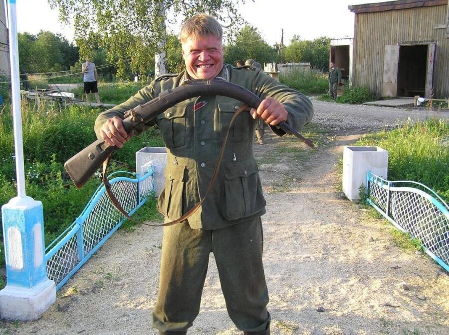 На съемках х/ф «Сталинград», август 2012 г