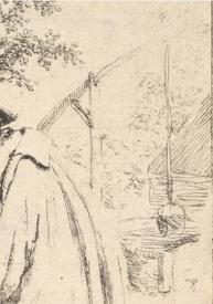 Адриан ван Остаде, Разговор, фрагмент «Колодец с журавлем»