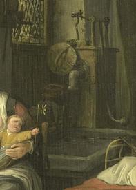 Корнелис Дюсарт, Мамаша с детьми, 1690, 32х25 см, Rijksmuseum, Амстердам, Нидерланды