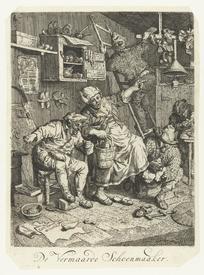 Корнелис Дюсарт, Искусный башмачник, 25х18 см, 1693, Rijksmuseum, Амстердам, Нидерланды