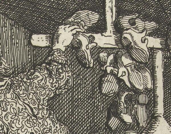 Корнелис Дюсарт, Искусный башмачник, фрагмент «Готовая обувь»