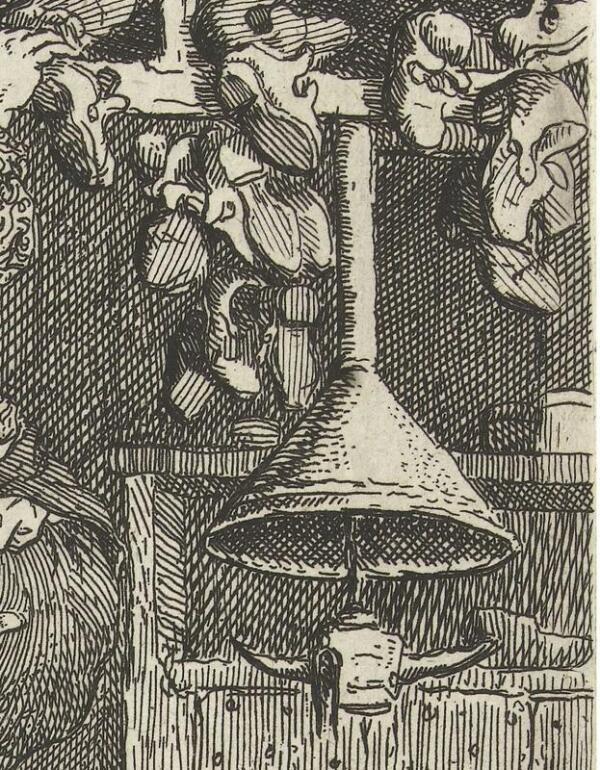 Корнелис Дюсарт, Искусный башмачник, фрагмент «Четырехрожковая масляная лампа»