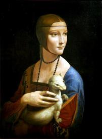 «Портрет Дамы с горностаем» Леонардо да Винчи.