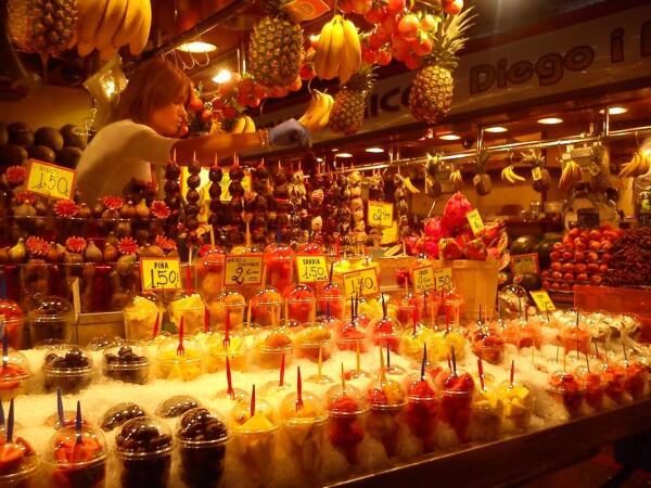 Незабываемые краски рынка La Boqueria