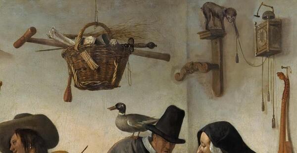 Ян Стен, Мир вверх тормашками, фрагмент «Часы с боем»