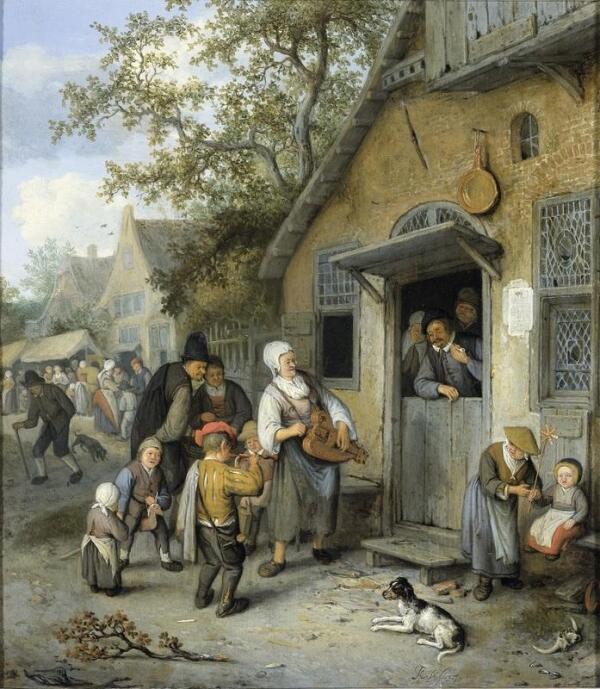 Корнелис Дюсарт, Деревенская ярмарка, 37х33 см, Rijksmuseum, Амстердам, Нидерланды