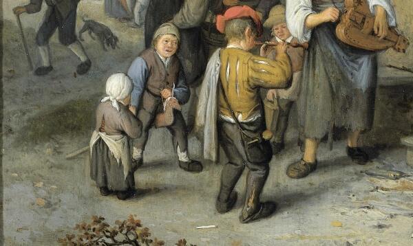 Корнелис Дюсарт, Деревенская ярмарка, фрагмент «Лошадка»
